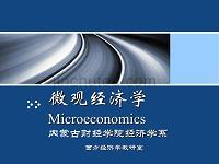 《微观经济学》第二章供求理论