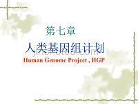 《基因工程》第七章人类基因组计划
