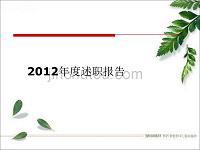 2012年各职业述职报告PPT