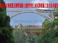落布溪提篮式钢管混凝土劲性骨架上承式拱桥施工综合技术研究