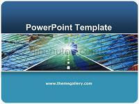 蓝色风格商务经典PPT模板