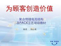聚合物锂电池结构及PACK工艺培训教材