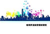 城镇开发运营模式研究