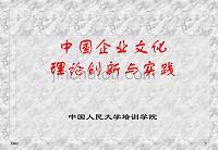 中国企业文化理论创新与实践