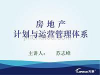 房地产计划与运营管理体系