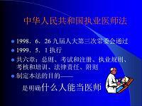 医学课件-中华人民共和国执业医师法