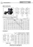 HRC 锥套联轴器参数