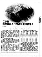 辽宁省新型农村合作医疗制度运行评价