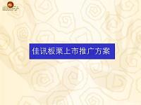 2005佳讯板栗上市推广方案-144p