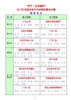 李宁·红双喜杯2017年全国业余乒乓球锦标赛总决赛