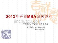2013年全国MBA调剂资料
